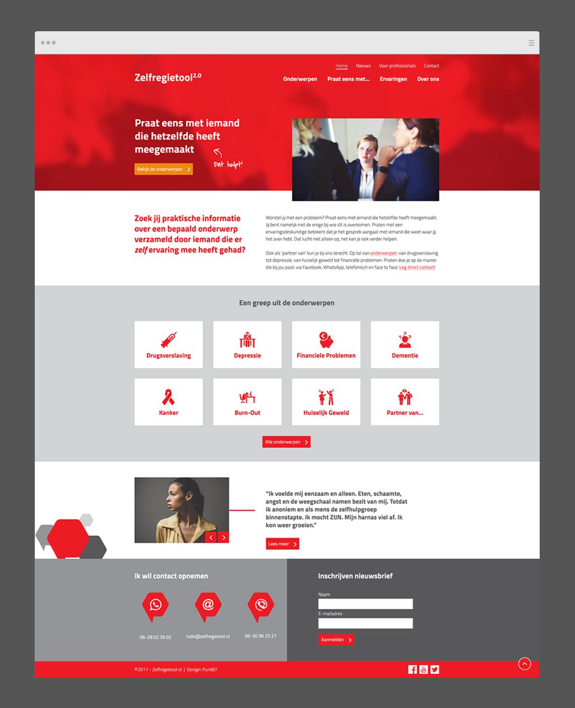 Zelfregienetwerk website